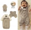 BelleMaison Boy Grey Tuxado 3 Pcs Set 小童西装服