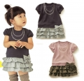 BelleMaison Girl Fake 2 pcs Dress 时尚女童裙子