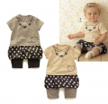 BelleMaison Girl Fake 2 pcs Grey Romper 时尚女童哈裙
