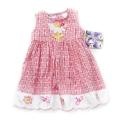 Blueberi Bee and Flowers Pink Dress 欧单花朵与蜜蜂花边连身裙主裙 浪漫花朵款