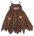 Blueberi Embroidery Brown Dress 绣花洋装