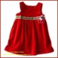 Burberry Sleeveless Red Dress 全棉平绒格纹腰背心裙 红色