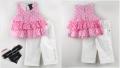 CALVIN KLEIN Girl 2 Pcs Pink Set 可爱粉色点点套装