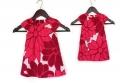 CHEROKEE Red Dress 女童小飞袖花边领裙衫