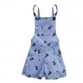CYDD Cat Prints Blue Jumper 蓝色满身猫咪印花梭织背带裤