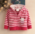 Carter's Forest Fun Rose Pink Stripe Jacket 小老鼠条纹外套【西瓜红】