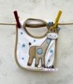 Carter's Baby Waterproof Bib- Beige Giraffe 口水巾