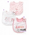 Carter's Baby Waterproof Bib- Girl's Pink Bib 口水巾