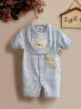 Carter's Bear & Star 2 Pcs Romper Set 小熊与星星口水巾加哈衣二件式