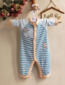 Carter's Boy Elephant Blue Stripe Sleeper 小象长袖哈衣
