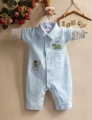Carter's Boy Frog Blue Sleeper 小青蛙长袖哈衣
