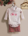 Carter's Butterfly Polkadots LS 2 Pcs Set 蝴蝶波点长袖哈衣套装