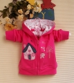 Carter's Cat & House Dark Pink Hoodie Jacket 小猫猫大房子玫红色外套