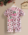 Carter's Cherries Pink 2 Pcs Romper Set 樱桃口水巾加哈衣二件式