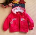 Carter's Cute Girl Hoodie Pink Jacket 梅花贴布绣梅红色外套