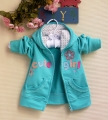 Carter's Cute Girl Hoodie Green Jacket 梅花贴布绣绿色外套