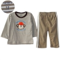 Carter's Cute Monkey Stripe 2 Pcs Set 俏皮小猴条纹套装