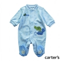 Carter's Dino Pals Blue Sleepsuit 兰色恐龙哈衣