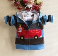 Carter's Fire Engine Blue Black Hoodie Jacket 消防车条纹外套【蓝,黑】