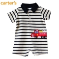 Carter's Fire Engine Stripe Romper 车车平脚哈衣