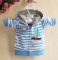 Carter's Fishing Blue Stripe Hoodie Jacket 小帆船条纹外套【蓝】