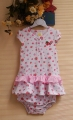 Carter's Strawberry Romper 2pcs Set 草莓纯棉两件套