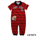 Carter's Foot Ball Red Sleepsuit 短袖红色哈衣