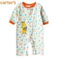 Carter's Giraffe Orange Sleeper 长颈鹿橙色边平脚哈衣