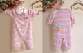 Carter's Girl Bee Pink Stripe Sleeper 小蜜蜂条纹长袖哈衣