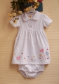 Carter's Love Polka Dots White Romper 2 Pcs Set 心心点点纯棉两件套