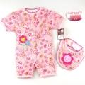 Carter's Loves Pink 2 Pcs Set 粉色心心开扣哈衣两件套