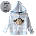 Carter's Monkey Blue Strip Cotton Jacket蓝白间条猴子小外套