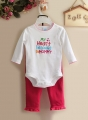 Carter's My Heart Belongs to Mommy LS 2 Pcs Set 心心长袖哈衣套装
