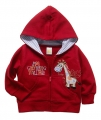 "Carter's ""I'm Getting Taller"" Pony Hoodie Red Jacket 小马马贴布绣红色外套"