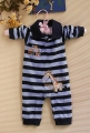 Carter's 'I'm Getting Taller' Blue Sleepsuit 长颈鹿长袖哈衣