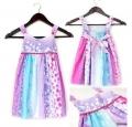 Catimini Blossoms Purple Dress 女童气质款花朵裙吊带裙