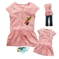 Children Weer Little Bear Pink Dress 粉红色小熊绣花裙