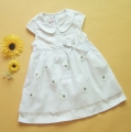 Ciel Princess White Chiffon Dress 纯棉短袖纱裙白色连衣裙