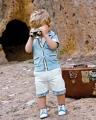 Cool Baby Smart Boy 2 Pcs Set 欧美男童绅士套装休闲短袖套装