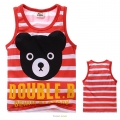D2BEE Double.B Bear Red Singlet 大红色小熊纯棉背心