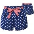 D2bee White Polkadots Blue Short Pant 蓝底白点梭织短裤