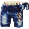 DDF Mickey Mouse Quarters Denim Pant 米奇印花纯棉洗水牛仔中裤 (Design 9)