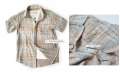 DDK Khakis Checker Boy Shirt 男童短袖衬衫