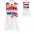 DDUNG Rainbow Princess Dress 西瓜红迷糊娃娃手摇绣花公主裙
