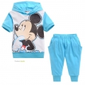 DISNEY Mickey Mouse 2 Pcs Set 蓝色米奇印花纯棉套装 (Design 2)