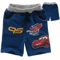 DISNEY Pixar Car Dark Blue Quarters Pant 汽车总动员纯棉毛圈短裤 (Design 4)