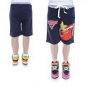 DISNEY Pixar Car Dark Blue Quarters Pant 汽车总动员纯棉毛圈短裤 (Design 5)
