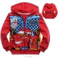 DISNEY Pixar Car Jacket 大红色汽车总动员纯棉毛圈带帽外套 (Design 7)