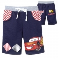 DISNEY Pixar Car Blue Quarters Pant 汽车总动员纯棉毛圈短裤 (Design 10)