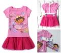 DORA Pink 2Pcs Set 短袖衫纱裙短裙套装